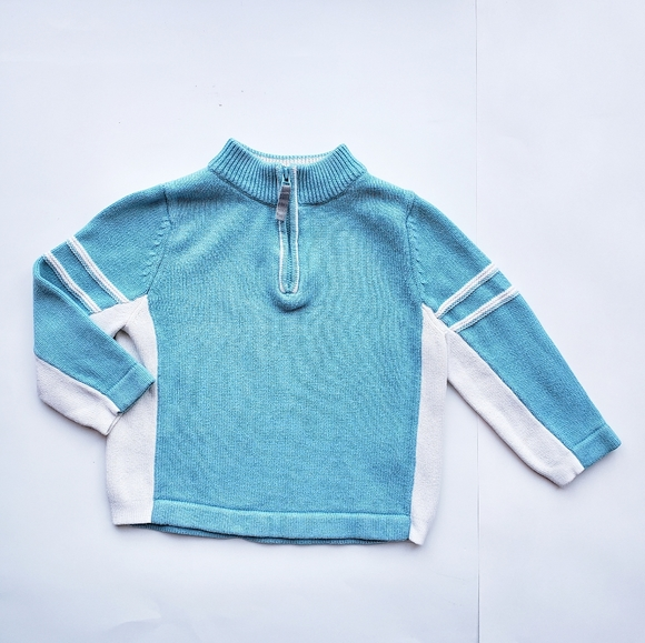 Hanna Andersson Blue Zip Sweater 90